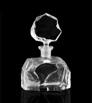 Art Deco Glass Perfume Bottle ' Rock ' H.Hoffmann