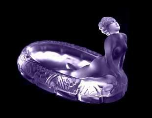 Art Deco 1930' Alexandrite Art Glass Bowl H.Hoffmann