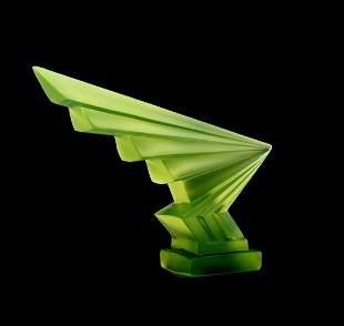 Art Deco 1930 Glass Hood Ornament H.Hoffmann by Lalique