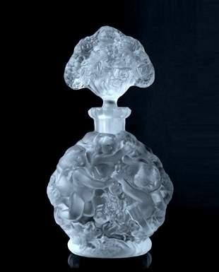 Art Deco Glass Perfume Bottle H.Hoffmann by Lalique