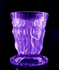 Art Deco 1930' Alexandrite Glass Large Vase H.Hoffmann