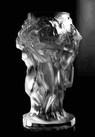 Art Deco Glass Vase H.Hoffmann by Lalique