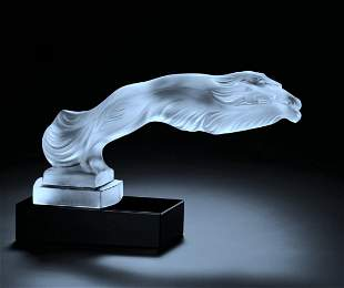 Art Deco Glass ' Greyhounds ' H.Hoffmann by Lalique