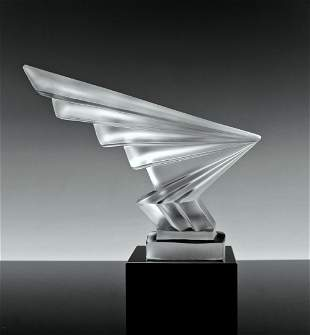 Art Deco 1930'H.Hoffmann by Lalique Glass Hood Ornament