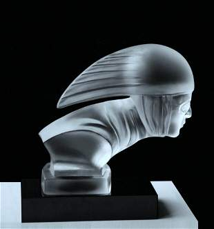 Art Deco 1930' Glass Car Mascot H.Hoffmann by Lalique
