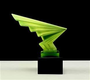 Art Deco 1930's Glass Car Mascot H.Hoffmann by Lalique
