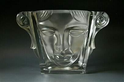 Glamorous French Art Deco Glass Bowl