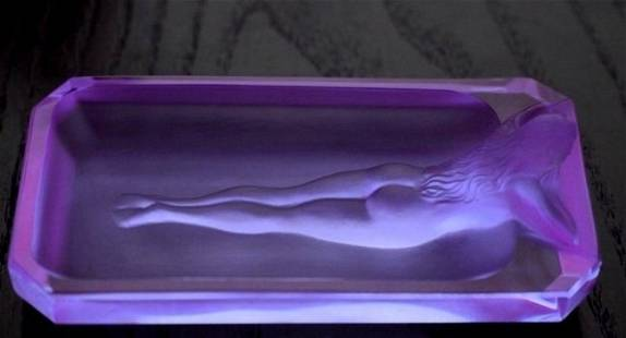 Art Deco 1930's Alexandrite Nude Glass Bowl H.Hoffmann