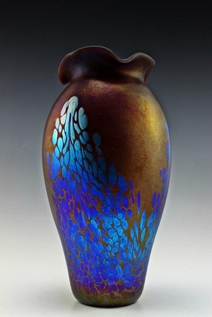 Glamorous Bohemian Inspired Loetz Glass Cabinet Vase