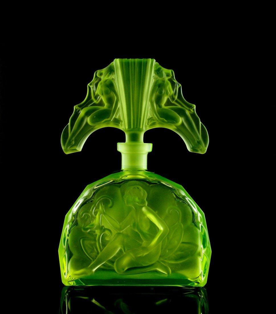 Fabulous Bohemian Art Deco Glass Perfume Bottle