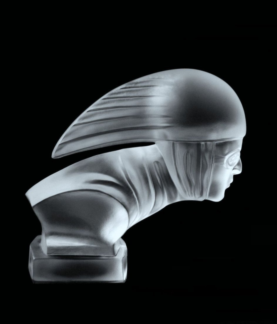 Glass Car Mascot /Art Deco Ca.1930 / Bohemia