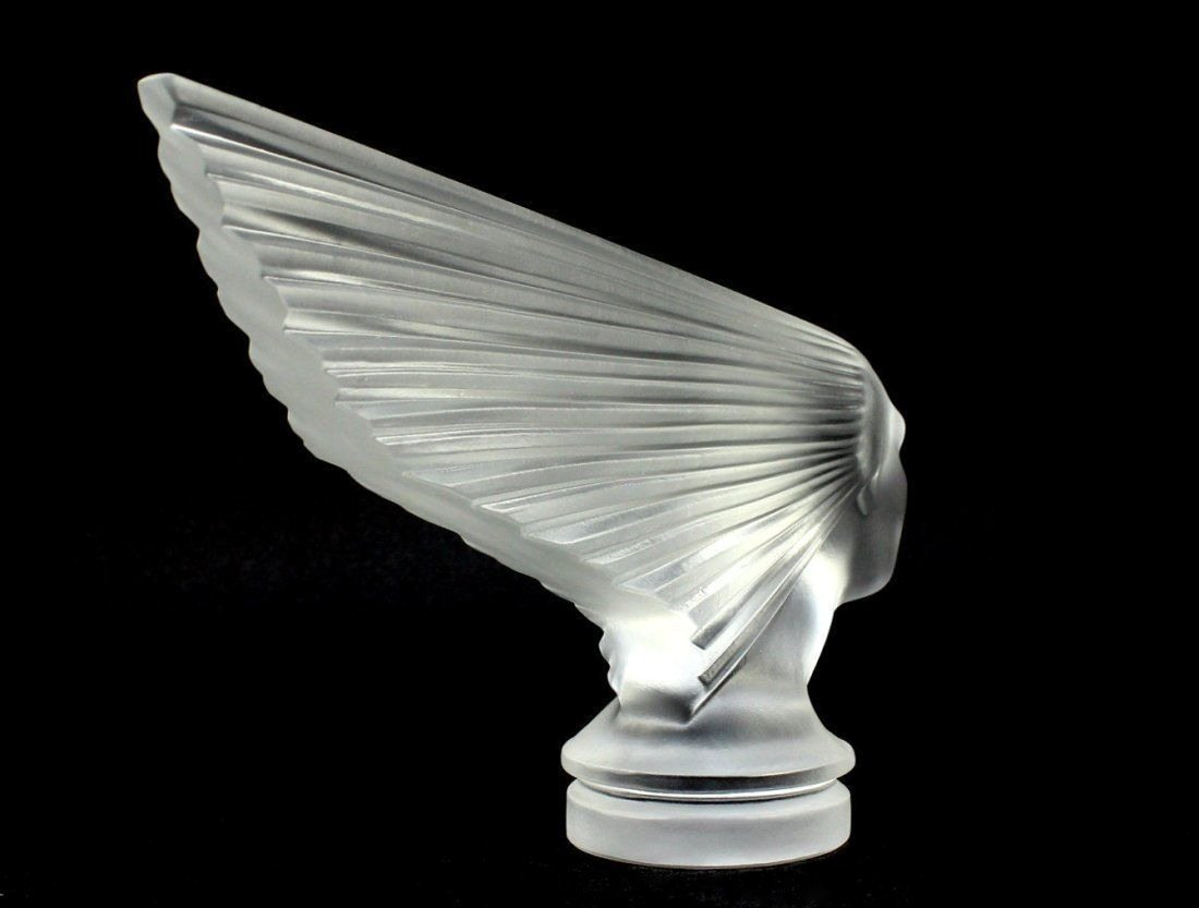 Glass Car Mascot /Art Deco Design Ca.1930 / Bohemia - 2