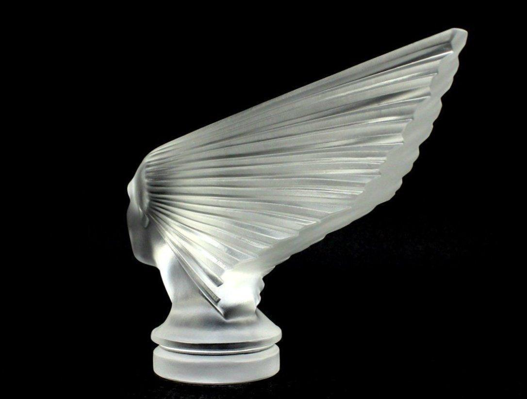 Glass Car Mascot /Art Deco Design Ca.1930 / Bohemia - 4