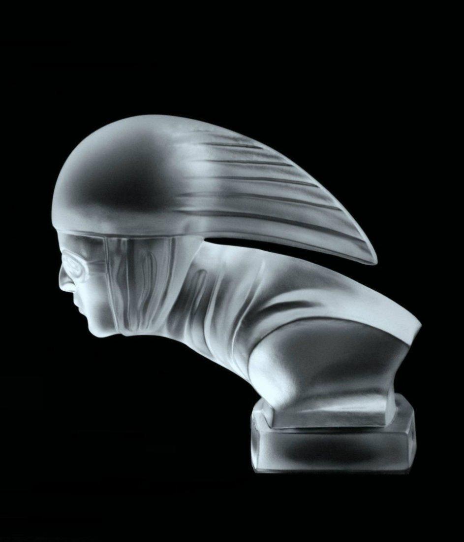 Glass Car mascot /Art Deco Model Ca.1930 / Bohemia - 5