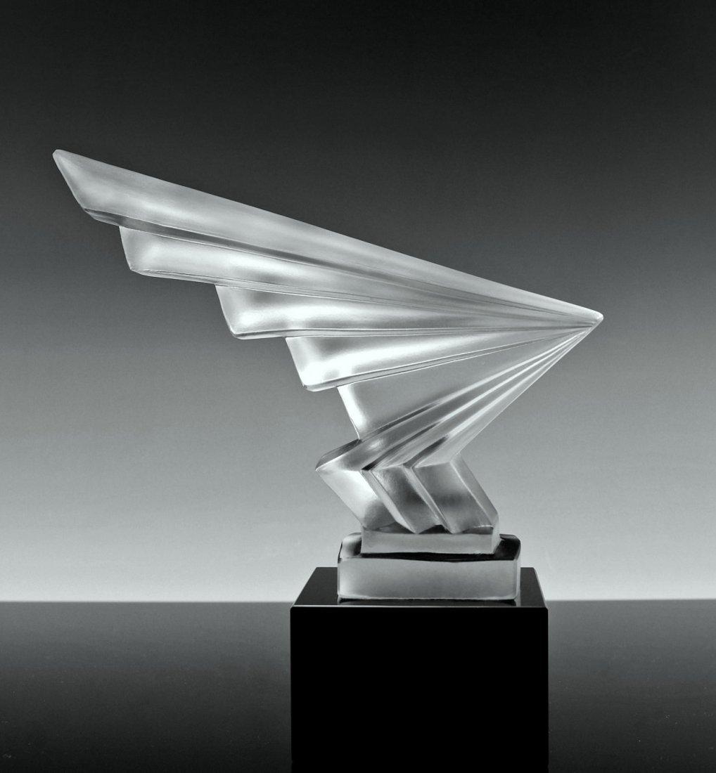 Bohemian Art Deco Glass Car Mascot Model Ca.1930 - 2