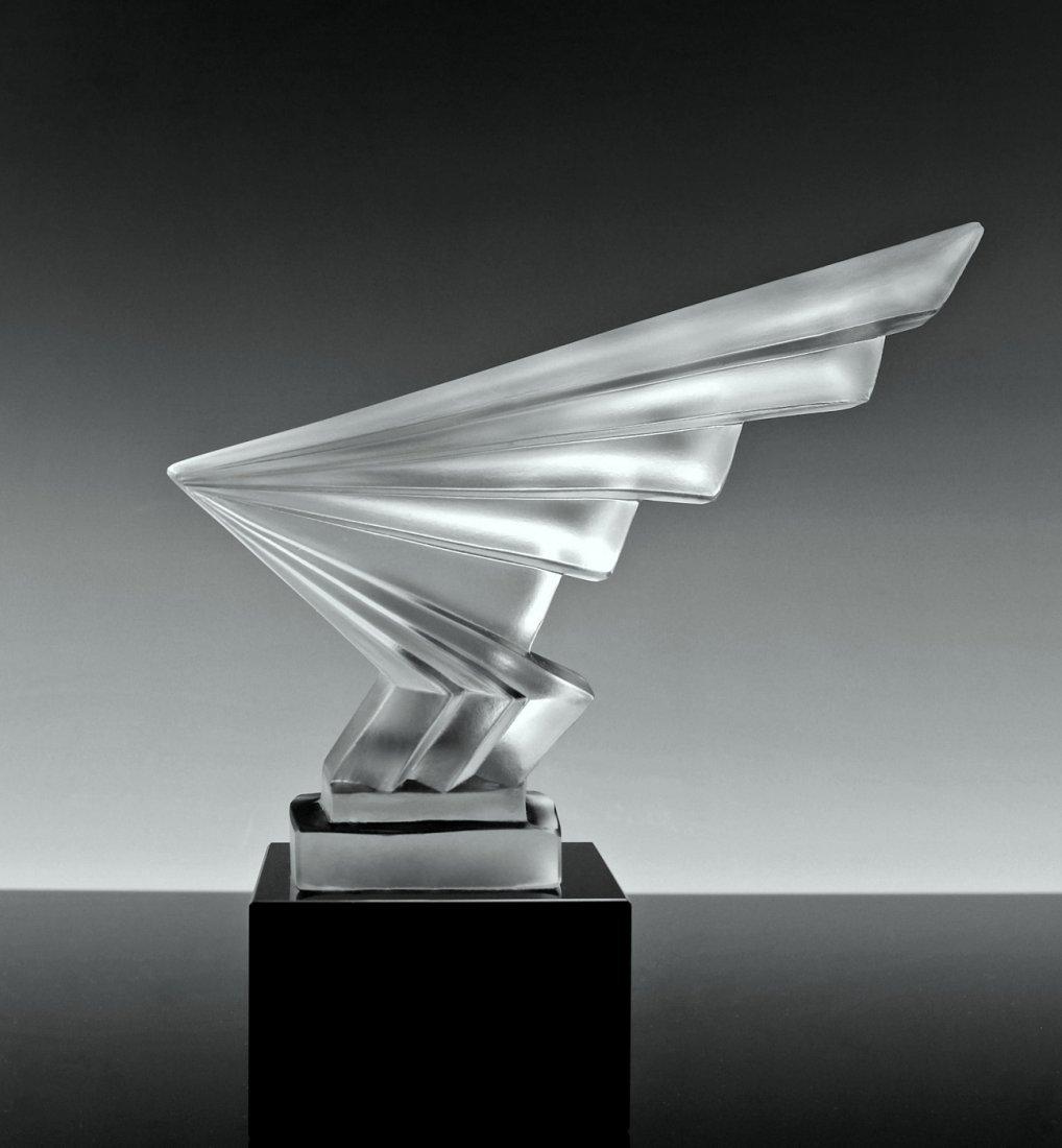 Bohemian Art Deco Glass Car Mascot Model Ca.1930 - 6