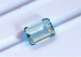 1.96ct Emerald Cut Aquamarine