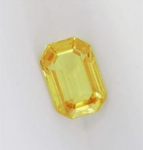1.95ct Emerald Cut Natural Ceylon yellow Sapphire