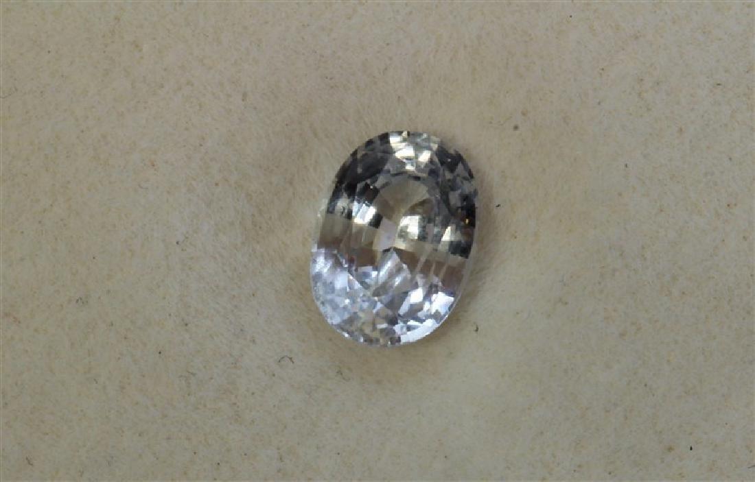 1.09CT Oval Shape Ceylon White Sapphire  Dimension-