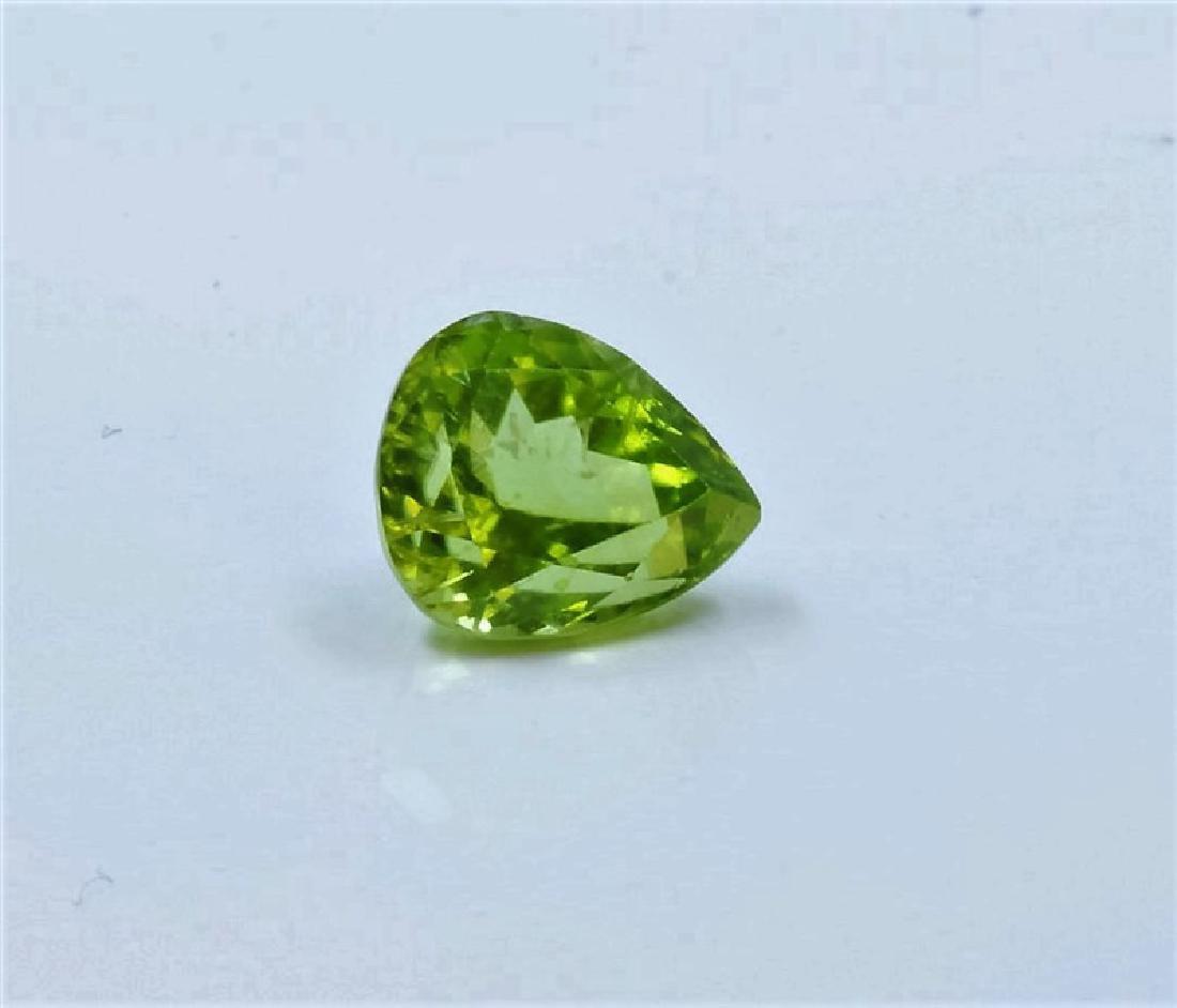 3.19ct Pear Shape burma peridot