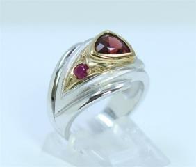 Sterling Silver .925 Garnet/Ruby Ring