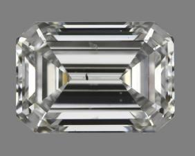 GIA/Emerald/D/SI1/0.91Ct