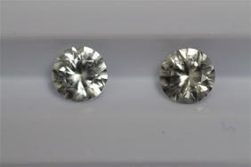 1.42ct Round Shape White Sapphire  Dimension-5.4x3.4