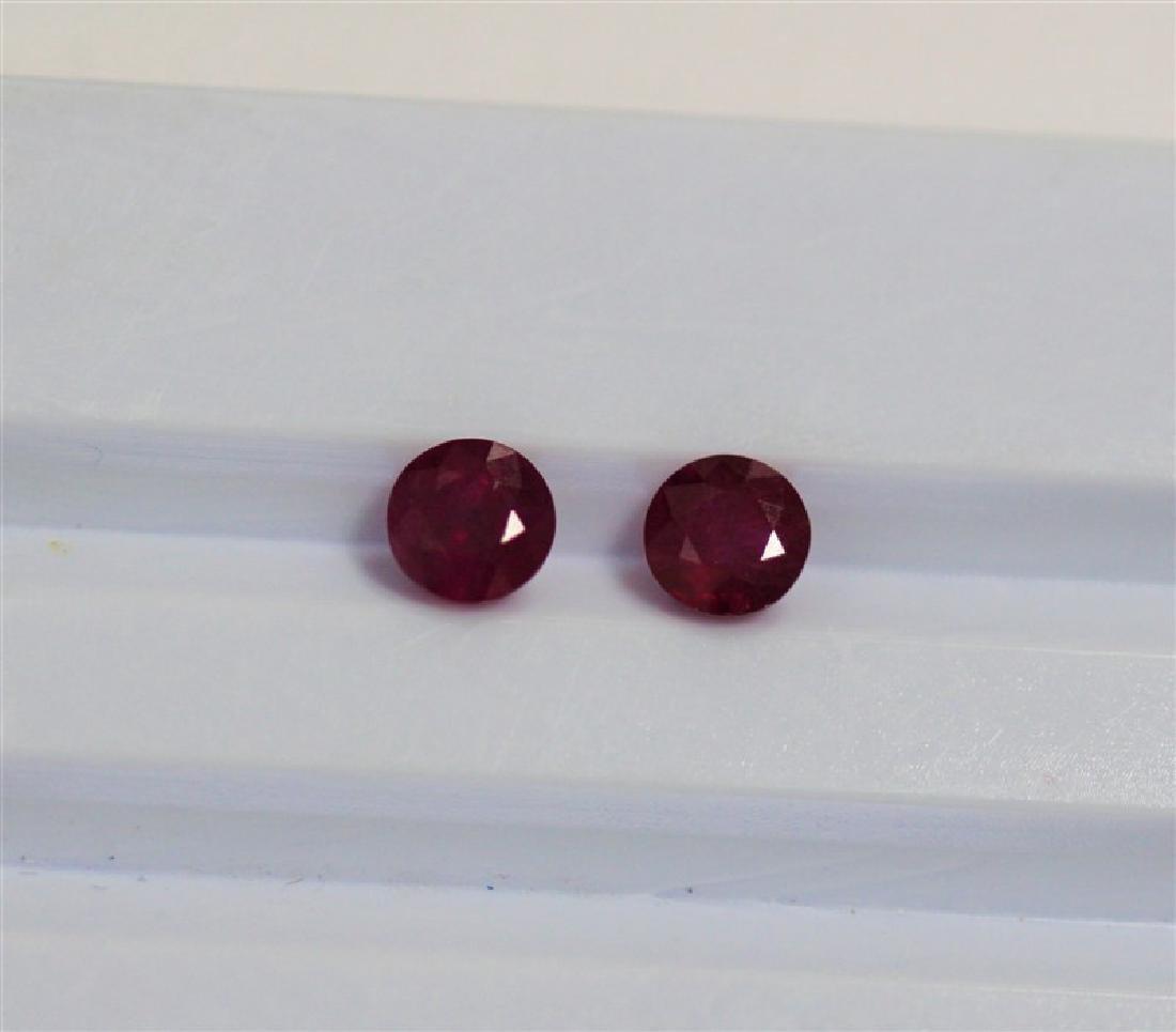 1.51ct Round Shape Match Pair Ruby Dimension- 5x3.5