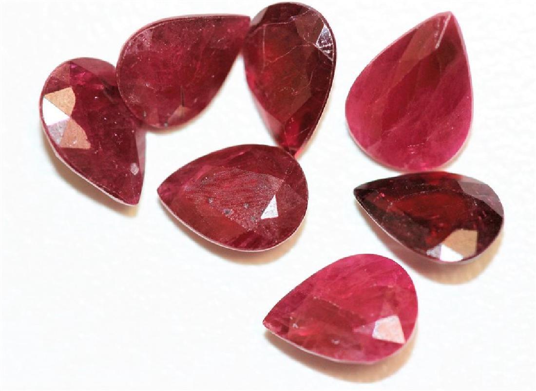 5.83ct Pear Shape Ruby Dimension- 7.7x5.7x3.1