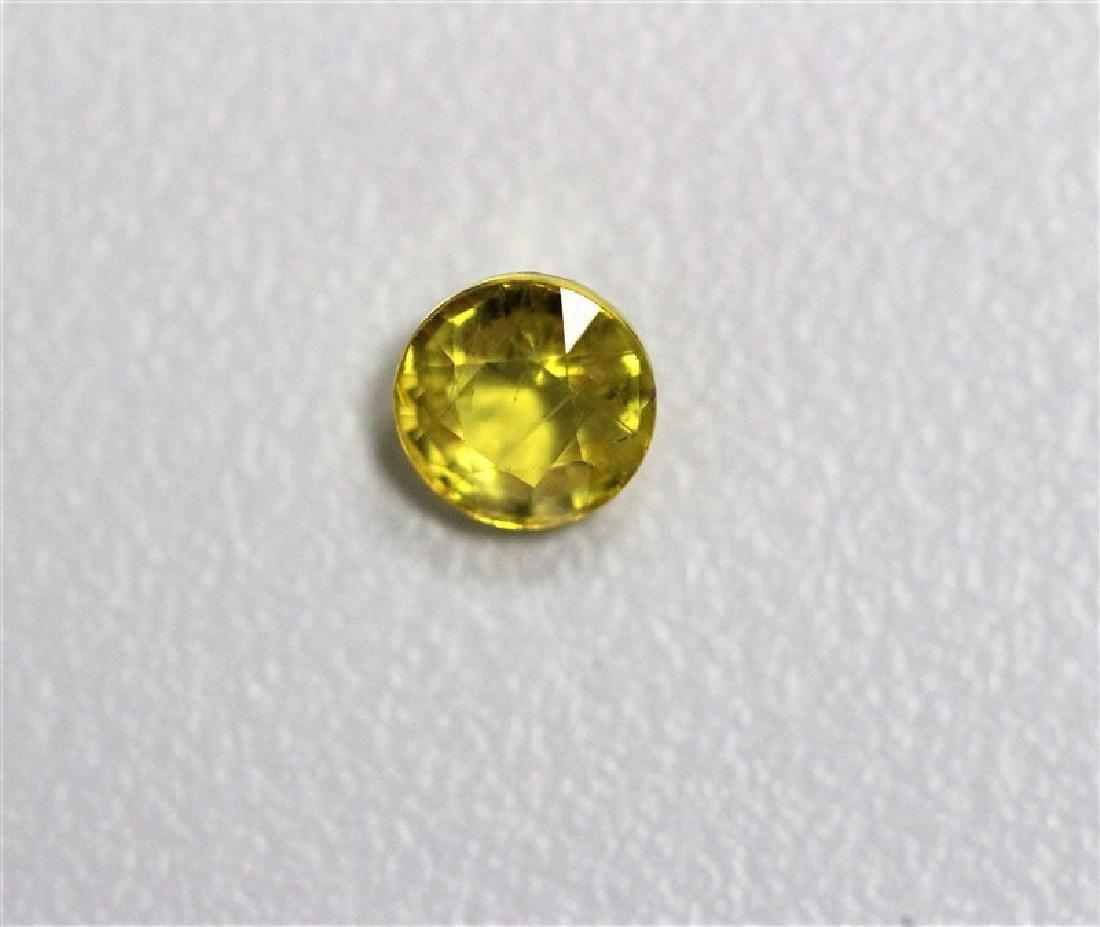 0.63ct Round Shape  Yellow Sapphire Dimension- 4.9x2.5
