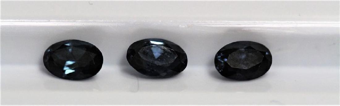 1.74ct Oval Shape Blue Sapphire (3pcs) Dimension-