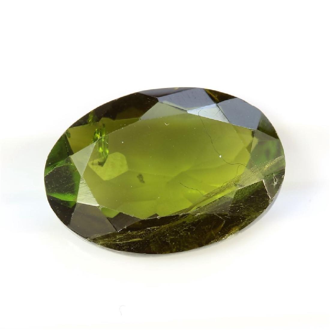 4.44ct Oval Shape Green Tourmaline Dimension- 10x14