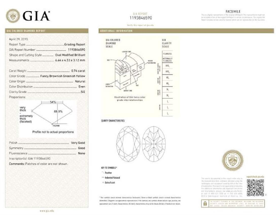 GIA/Oval/FANCY-CLR/SI2/0.74Ct