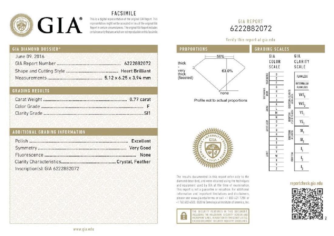 GIA/Heart/F/SI1/0.77Ct