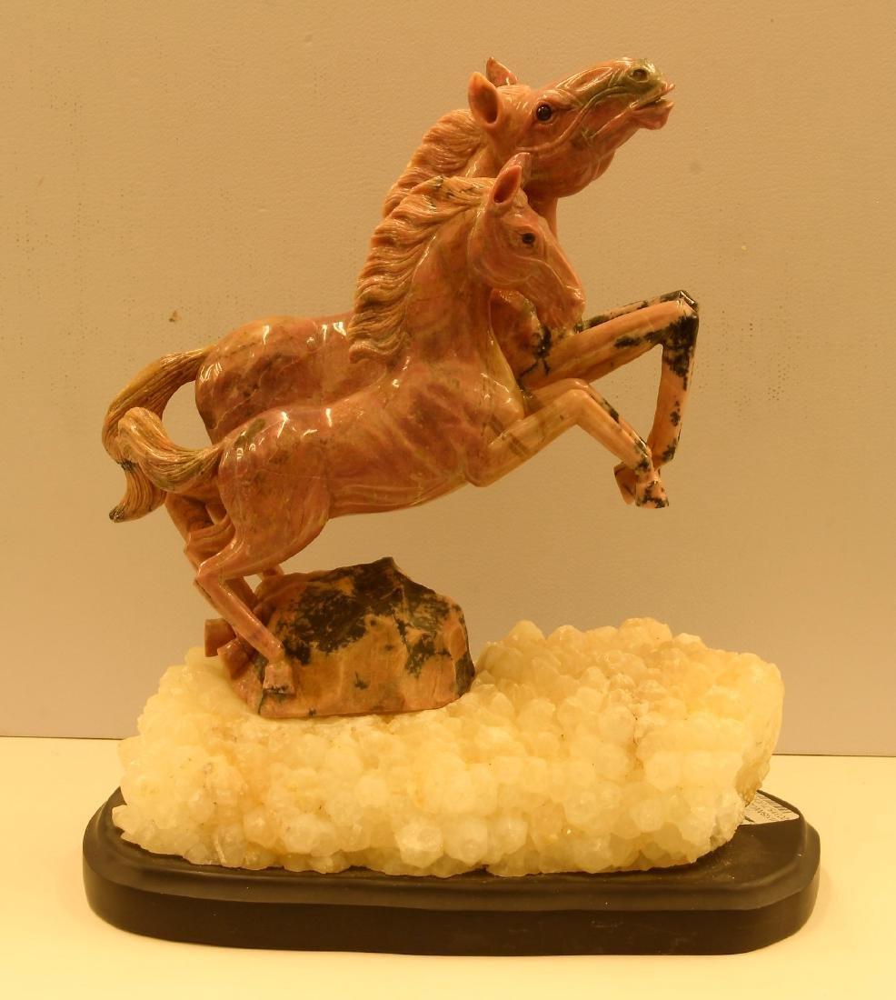 Rhodonite Horse Statute
