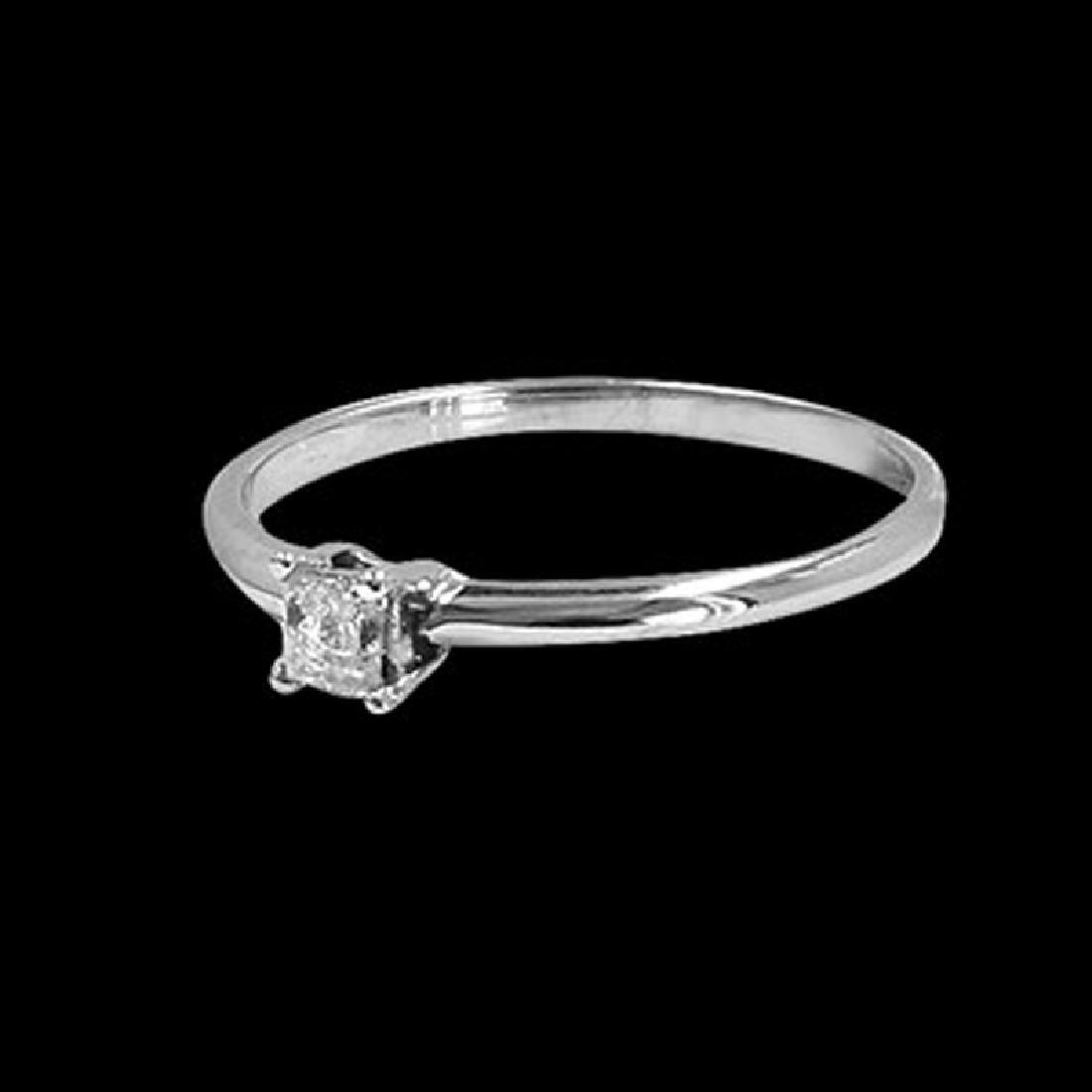 0.16CT NATURAL DIAMOND 14K WHITE GOLD RING