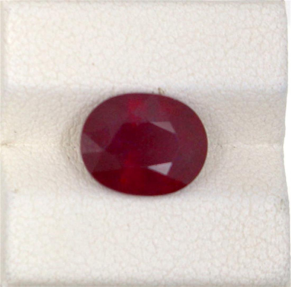 4.39ct Treated ruby oval cut