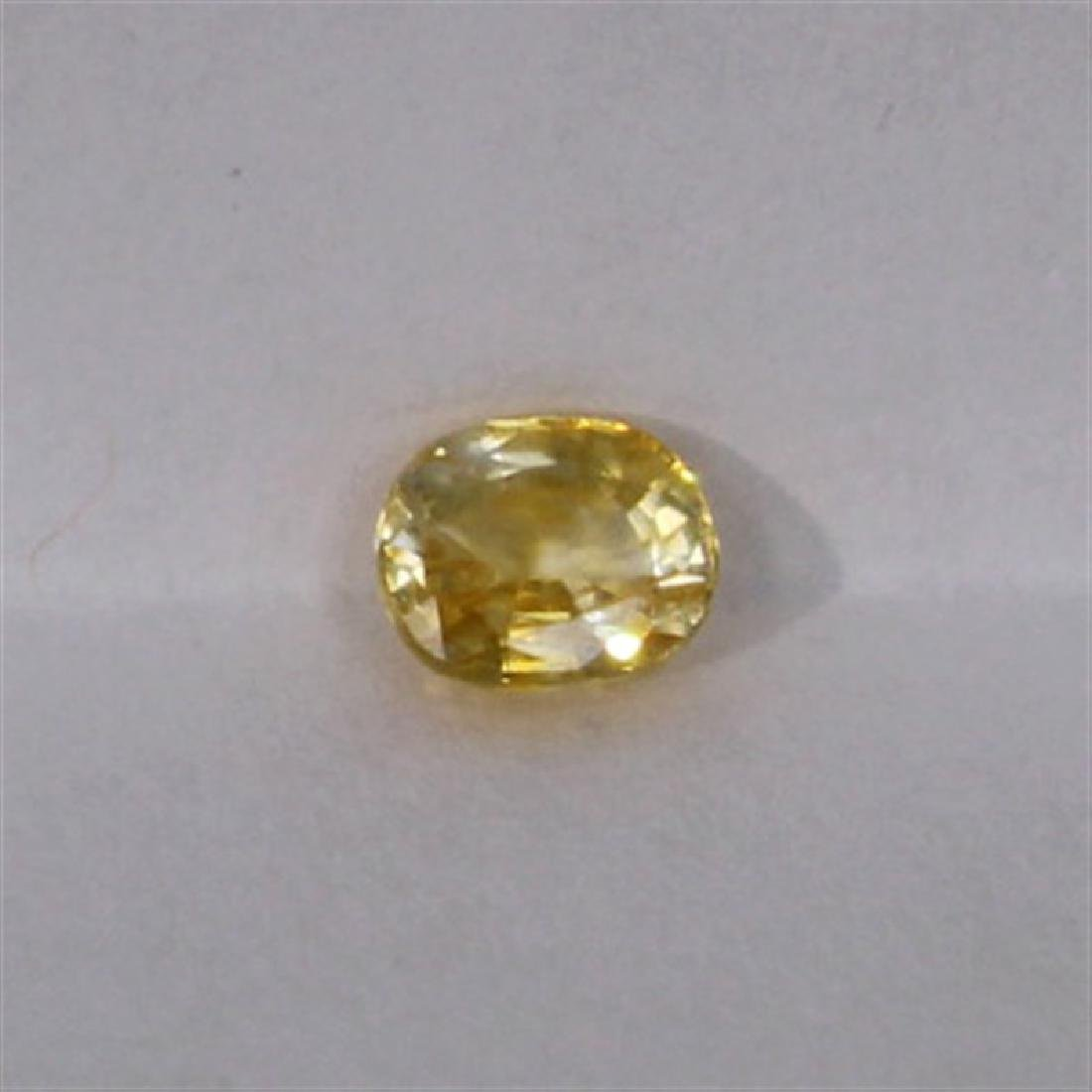0.73ct Natural yellow sapphire oval cut