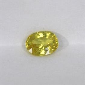 1.58ct Natural Yellow Sapphire Oval Cut