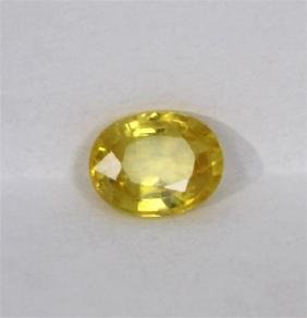 1.99ct Natural Yellow Sapphire Oval Cut