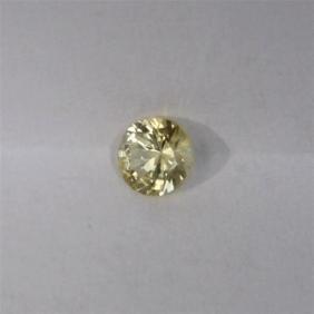 0.67ct Natural Ceylon Yellow Sapphire Round Cut