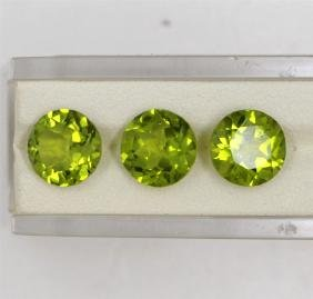 11.83ct Peridot match pair round cut