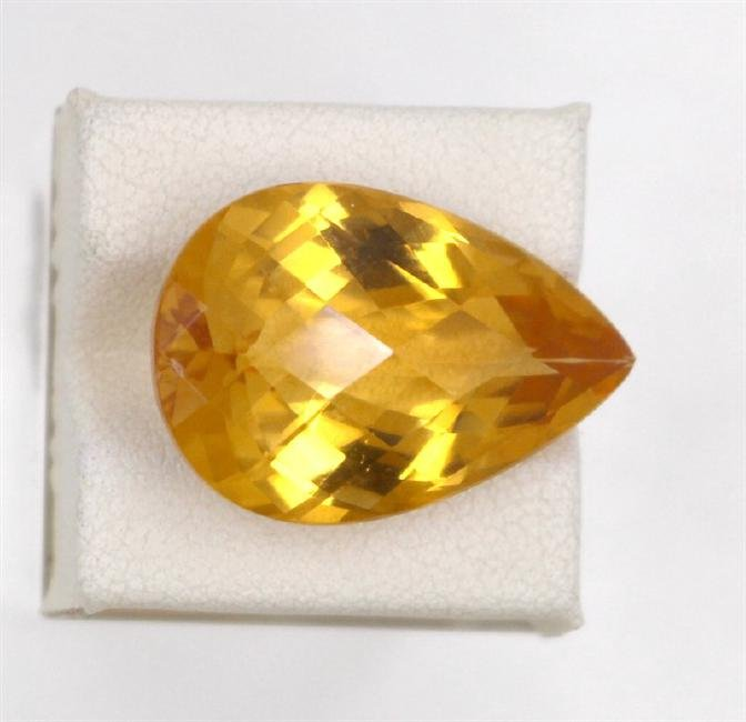 18.02ct Natural citrine Pear Cut