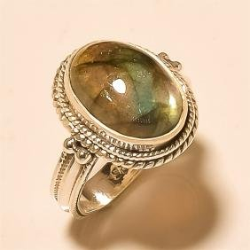 Labradorite RING Solid Sterling Silver