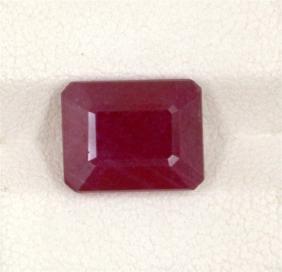 6.96ct Treated Ruby Emerald Cut