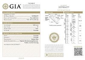GIA/Round/D/VVS1/0.52Ct