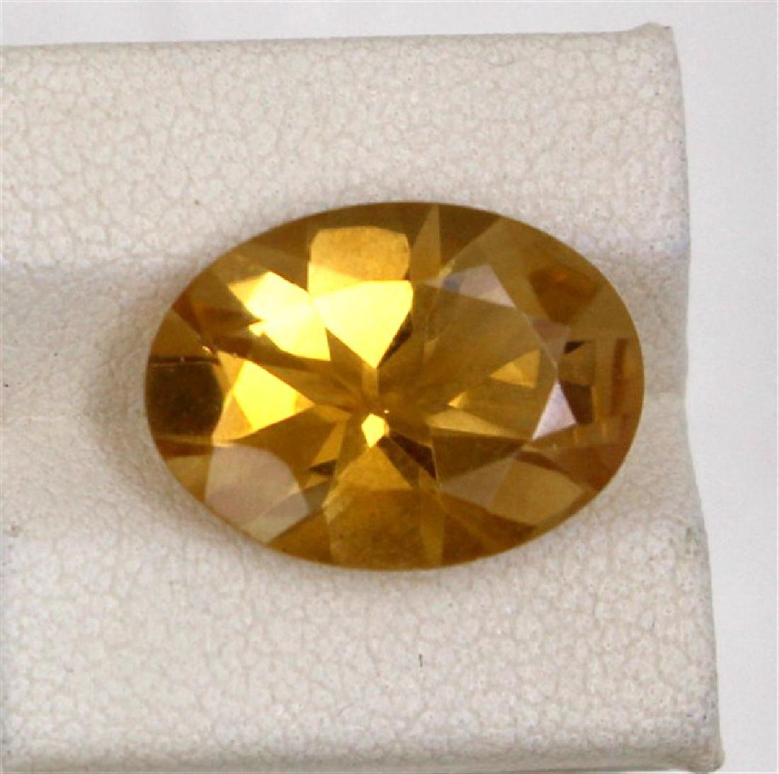 6.89ct Natural citrine oval cut