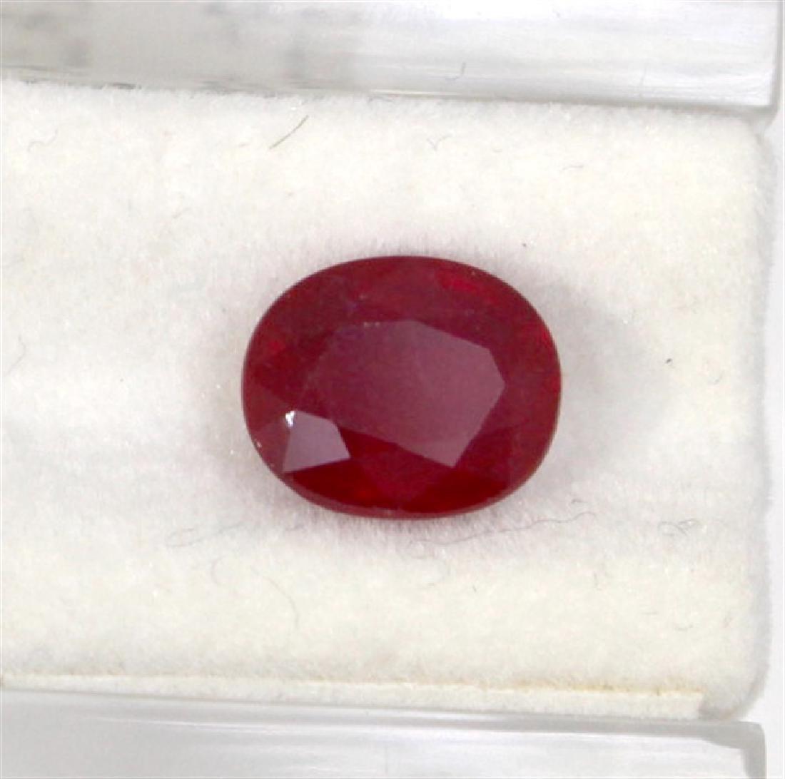 4.44ct  ruby oval cut