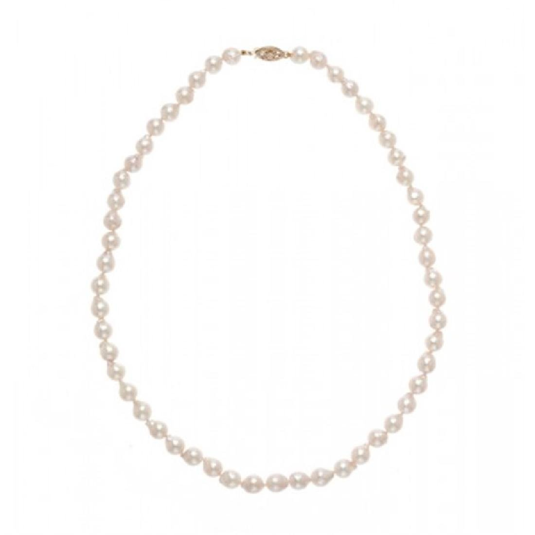 6.5-7.0mm Japansese Akoya Pearl Necklace
