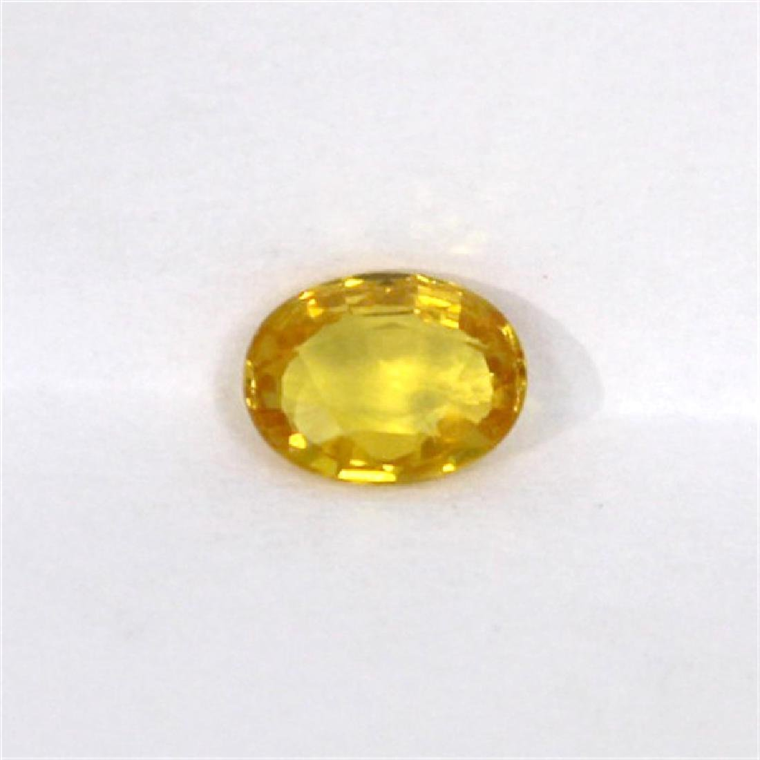 1.54ct Natural yellow Sapphire oval cut